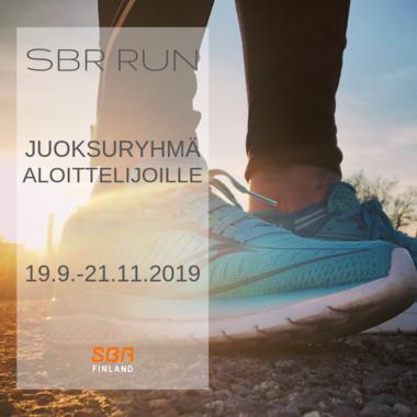 SBR RUN - juoksuryhmä aloittelijoille 19.9.-21.11.2019