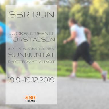 SBR RUN - Syksyn ohjatut juoksutreenit 19.9.-19.12.2019